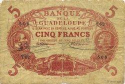5 Francs rouge, type 1874 modifié 1901 GUADELOUPE  1923 K.102j B+