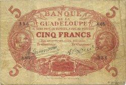 5 Francs rouge, type 1874 modifié 1901 GUADELOUPE  1923 K.102k TB+