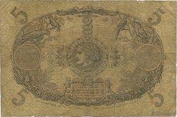 5 Francs Cabasson rouge GUADELOUPE  1928 P.07- B+