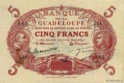 5 Francs rouge, type 1874 modifié 1901 GUADELOUPE  1928 K.102m TTB+