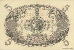 5 Francs rouge, type 1874 modifié 1901 GUADELOUPE  1934 K.102p pr.NEUF
