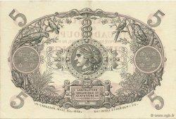 5 Francs rouge, type 1874 modifié 1901 GUADELOUPE  1944 P.07d SPL