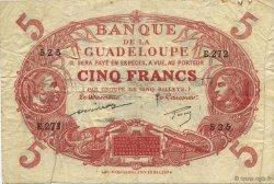 5 Francs rouge, type 1874 modifié 1901 GUADELOUPE  1944 K.102q TB