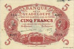 5 Francs Cabasson rouge GUADELOUPE  1944 P.07d SUP