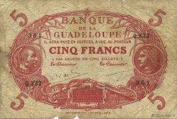 5 Francs rouge, type 1874 modifié 1901 GUADELOUPE  1945 K.102r B+