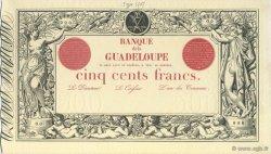 500 Francs, type 1852 modifié 1874 GUADELOUPE  1922 P.10S pr.NEUF