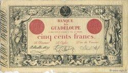 500 Francs, type 1852 modifié 1874 GUADELOUPE  1922 K.110b pr.TTB