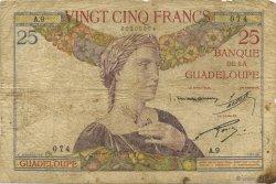 25 Francs, type 1927 GUADELOUPE  1934 K.112a B à TB