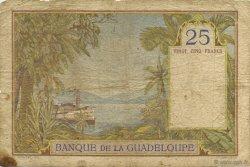 25 Francs GUADELOUPE  1934 P.14 B à TB