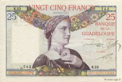 25 Francs, type 1927 GUADELOUPE  1934 K.112a SUP