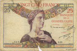 25 Francs GUADELOUPE  1934 P.14 TB