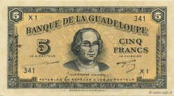 5 Francs GUADELOUPE  1944 P.21a SPL