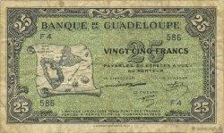 25 Francs GUADELOUPE  1944 P.22a TB
