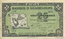 25 Francs, type Américain GUADELOUPE  1945 K.116b TTB+