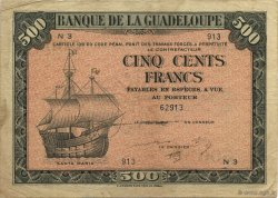 500 Francs, type Américain GUADELOUPE  1944 K.118b TB+