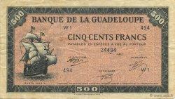 500 Francs GUADELOUPE  1945 P.25a TTB+