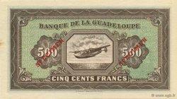 500 Francs, type Américain petit format GUADELOUPE  1945 P.25s NEUF