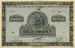 1000 Francs, type Américain GUADELOUPE  1943 K.120a SUP+