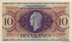 10 Francs, type Anglais GUADELOUPE  1944 K.124 SUP+