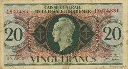 20 Francs GUADELOUPE  1944 P.28a TB+