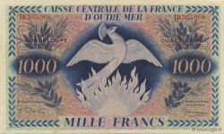 1000 Francs, type Anglais Phoenix GUADELOUPE  1944 P.30b SUP+