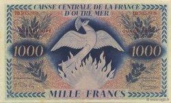 1000 Francs, type Anglais Phoenix GUADELOUPE  1944 K.127 SUP+
