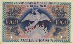 1000 Francs, type Anglais Phoenix GUADELOUPE  1944 P.30s SUP