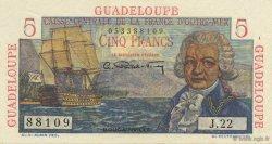 5 Francs Bougainville GUADELOUPE  1946 P.31 SPL
