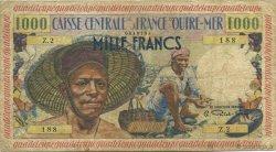1000 Francs pêcheur GUADELOUPE  1955 K.136 TB+