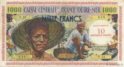 10 Nouveaux Francs pêcheur GUADELOUPE  1960 K.141 SUP+