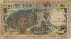 10 Nouveaux Francs pêcheur GUADELOUPE  1960 P.43 B+