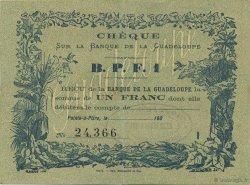 1 Franc GUADELOUPE  1900 K.169 pr.SPL