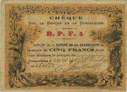 5 Francs GUADELOUPE  1870 P.20E TB+
