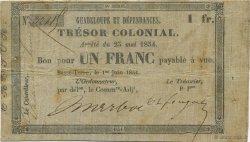 1 Franc GUADELOUPE  1854 K.143 pr.TTB
