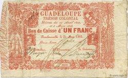 1 Franc GUADELOUPE  1863 K.146 pr.TTB
