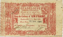 1 Franc GUADELOUPE  1863 P.A13 pr.TTB