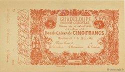 5 Francs GUADELOUPE  1858 K.152s SPL