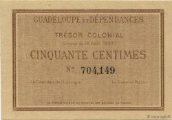 50 Centimes GUADELOUPE  1884 P.01r SPL