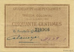50 Centimes GUADELOUPE  1884 K.160 SUP