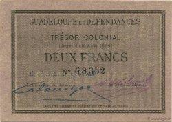 2 Francs GUADELOUPE  1884 P.03a SPL