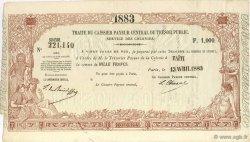 1000 Francs TAHITI  1883 KM.564 SPL