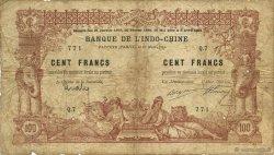 100 Francs TAHITI  1914 P.03 B+