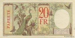 20 Francs TAHITI  1928 P.12c SUP+