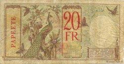20 Francs TAHITI  1928 KM.510bis pr.TB