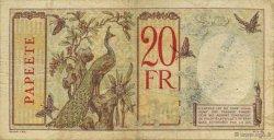 20 Francs TAHITI  1928 KM.510bis TTB
