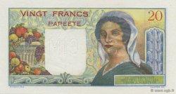 20 Francs TAHITI  1951 KM.511as NEUF