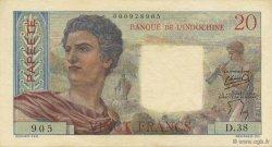 20 Francs TAHITI  1954 P.21b SUP+
