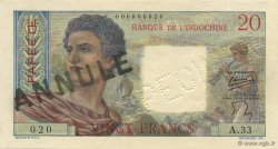 20 Francs TAHITI  1954 P.21bs SUP+