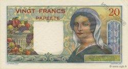 20 Francs TAHITI  1963 P.21cs pr.NEUF