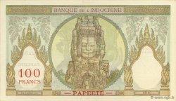 100 Francs TAHITI  1939 P.14-s SUP+